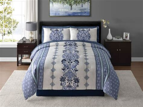 walmart bed in a bag king home trends 8 piece bed in a bag bedding set walmart ca