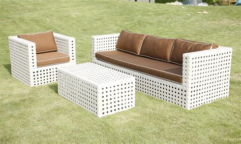 All Weather Wicker Patio Chairs All Weather White 3 Wicker Patio Furniture Set By Maian