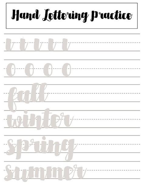 hand lettering tutorial worksheet hand lettering practice sheets for beginners bullet