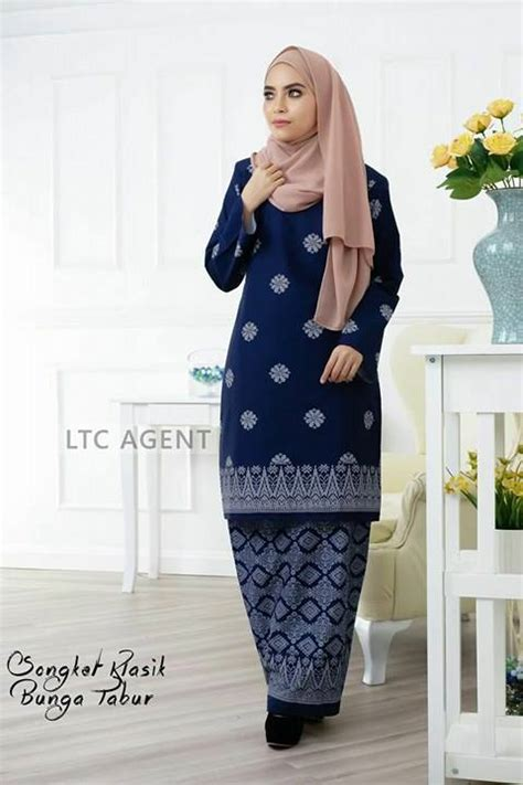 Baju Kurung Moden Blue Black baju kurung moden songket bunga tabur batch ii all sold out saeeda collections