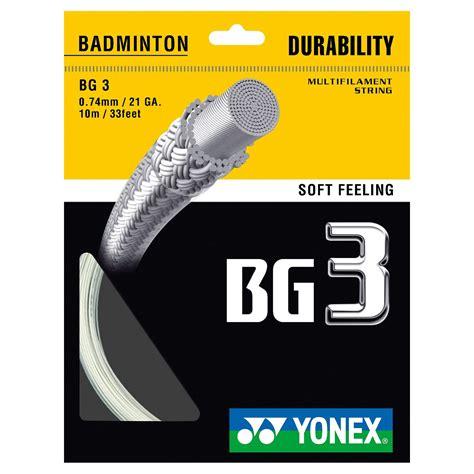 Raket Yonex Set yonex bg 3 badminton racket string 10m set