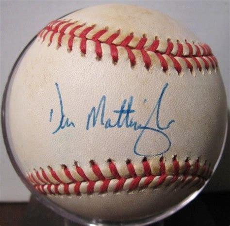 Don Mattingly Signed by Lot Detail Don Mattingly Signed Baseball W Jsa Coa