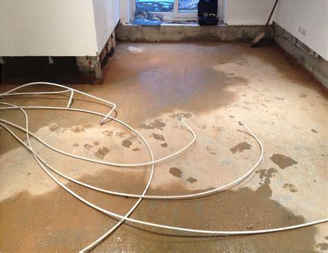 Water Heated Floors by Poorly Installed Underfloor Heating System Thermal