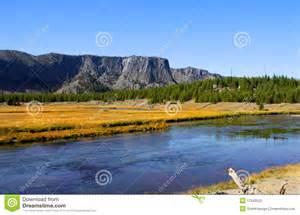 yellowstone landscape stock image image of beautiful