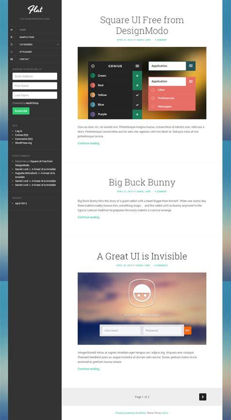 theme wordpress free flat flat free wordpress themes preview