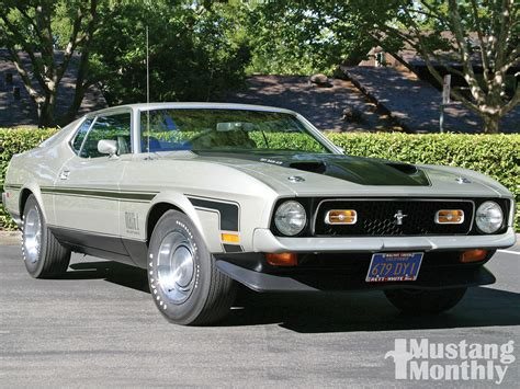 1971 Ford Mustang Mach 1   Pewter & Black Photo & Image