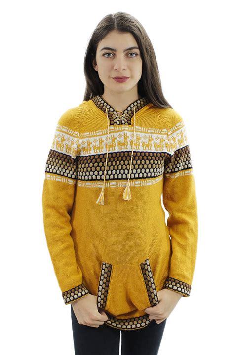 design womens hoodie womens hoodie alpaca wool knitted hooded fitted shakira