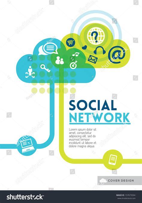 design poster social media cloud social media network concept background stock vector
