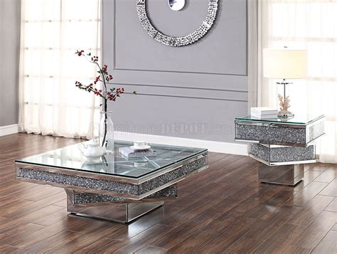 noralie coffee table   mirror  acme woptions