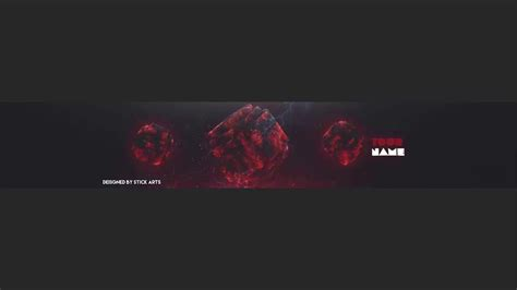 Free 3d Cubical Banner Template V2 Youtube 3d Banner Template