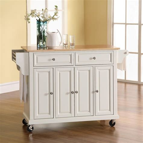 white kitchen island shop crosley furniture white craftsman kitchen island at