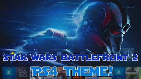 themes ps4 star wars star wars battlefront 2 ps4 theme showcase youtube