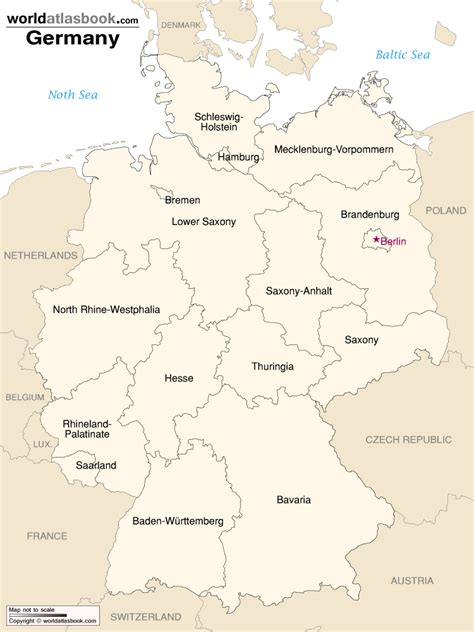 germany map states geography detailed map of germany