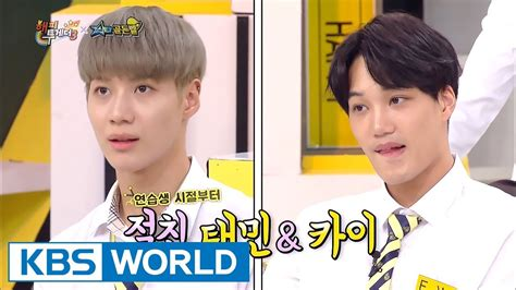 exo happy together shinee taemin didn t welcome exo kai at first happy