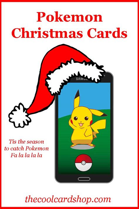 printable christmas gift certificates pokemon go search let s find some pokemon christmas cards the cool card shop