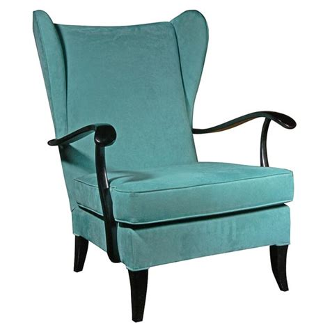 Single Chair single wing chair attributed to paulo buffa at 1stdibs