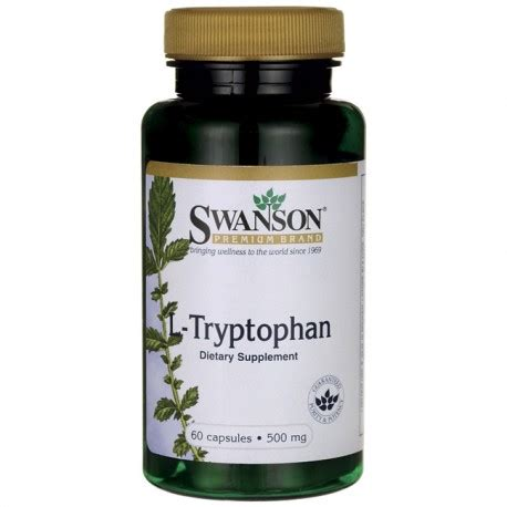 supplement l tryptophan l tryptophan 500 mg 60 capsules by source naturals