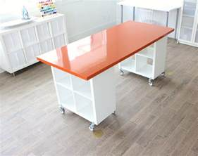 Craft Table L Building A New Home The Formica Craft Table Made Everyday