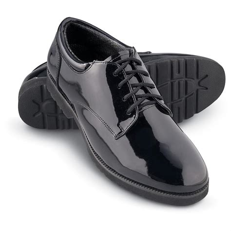 s mil tec 174 patent leather shoes black 130871