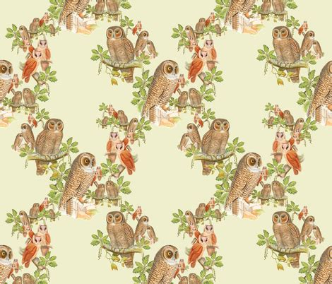 imagine fabric paints fashioned owl pattern painting fabric imagine cg images spoonflower
