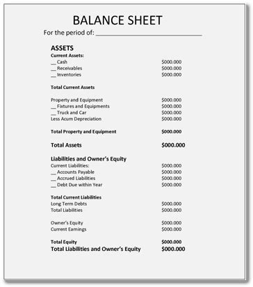 Simple Balance Sheet Exle Apache Openoffice Templates Simple Balance Sheet Template