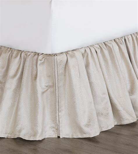 ivory bed skirt marquise luxury bedding by eastern accents belrose ivory