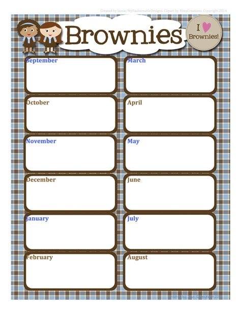 fashionable moms girl scouts free brownies calendar