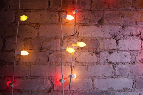 String Lights Wall - neon lights photos design ideas remodel and decor lonny