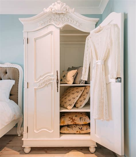 french white hand carved double armoire wardrobe furniture