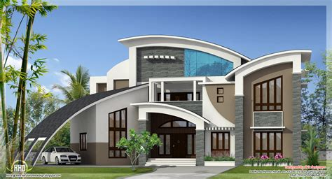 interesting house designs 4 bedroom modern flat roof house keralahousedesigns
