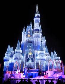 disney world castle lights walt disney world resort at holidaytime unwraps festive