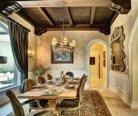 french country manor mediterranean dining room