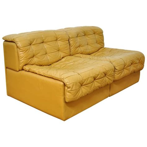 caramel leather sofa de sede ds 11 caramel leather loveseat sofa at 1stdibs