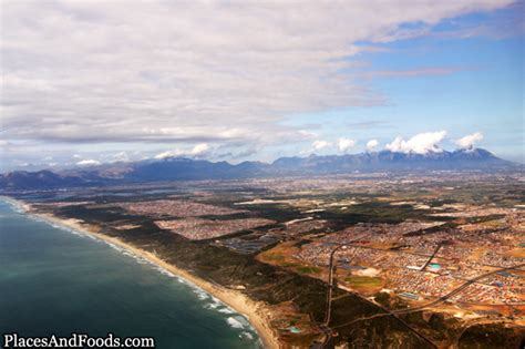 plane views beautiful city  cape town south africa