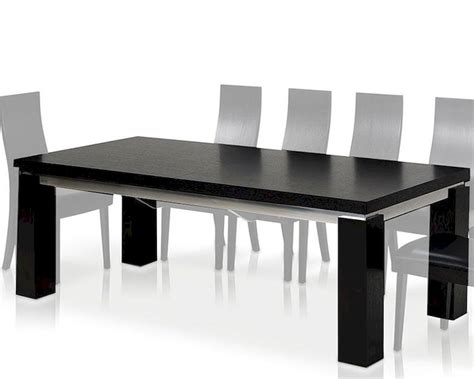 maxi modern black oak dining table 44dmaxi set