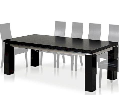 modern black dining table maxi modern black oak dining table 44dmaxi set