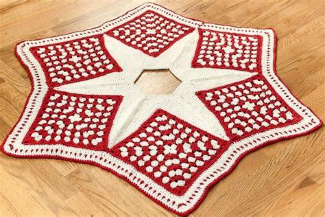 crochet christmas tree skirt patterns beautiful square tree skirt free crochet pattern