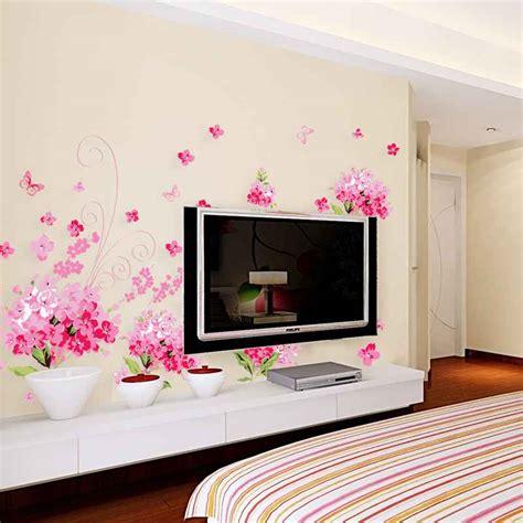 Wallpaper Dinding Murah Bukan Stiker Bunga Wall Sw115 jual dinding stiker wall sticker bunga hydrangea