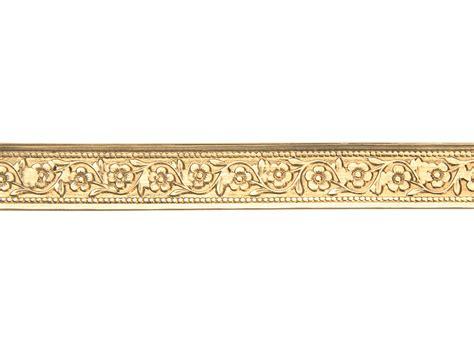 gold pattern wire brass garden flower pattern wire 0 5mm x 7 9mm x 910mm