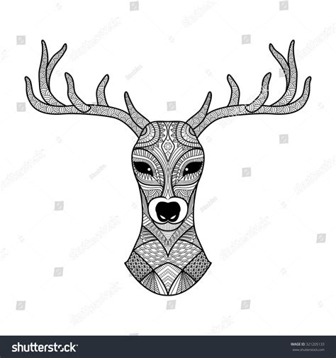 detailed deer coloring page detailed zentangle deer for coloring page tattoo shirt