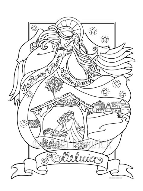 nativity angel coloring page angel nativity coloring page in three sizes 8 5x11 8x10