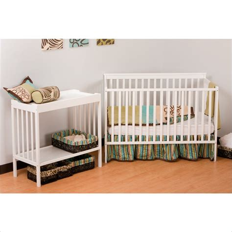 Crib And Changer Combo White by Stork Craft Milan 2 In 1 Crib And Changer Combo In White