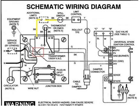 boiler wiring diagram for thermostat efcaviation