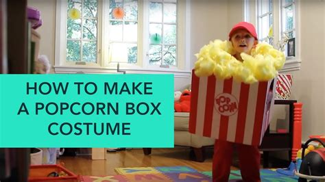 How To Make A Popcorn Box Out Of Paper - easy diy costumes popcorn box costume