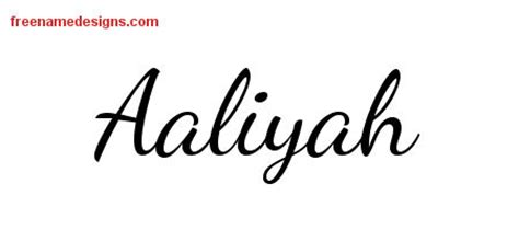 aaliyah archives free name designs