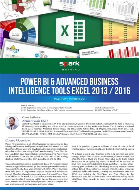 advanced excel 2013 tutorial ppt power bi advanced business intelligence tools excel 2013