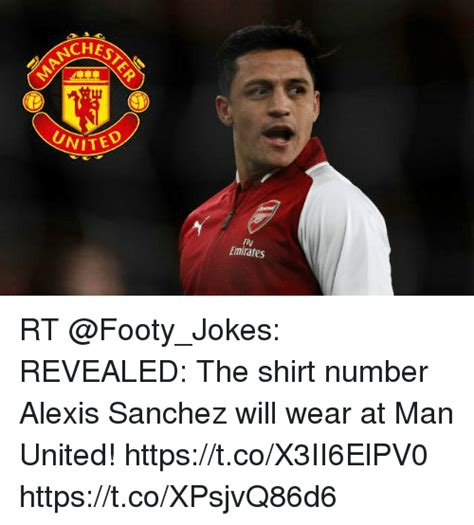 alexis sanchez shirt number chest uni fly emirates rt revealed the shirt number alexis