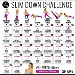 30 day home workout plan the 30 day shape slim down weight loss challenge shape magazine