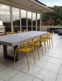 contemporary zen outdoor concrete table contemporary patio new york by trueform concrete