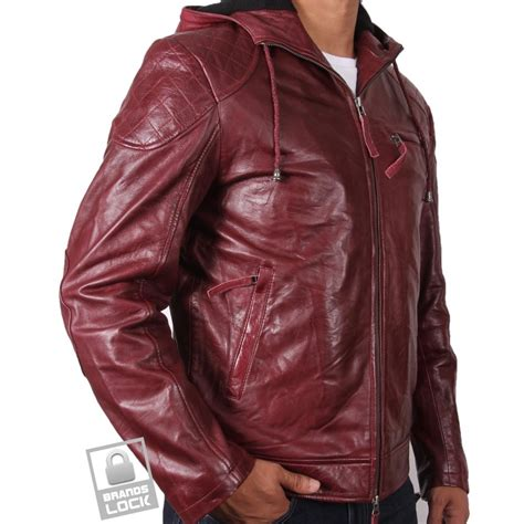 Jaket Jacket Murah King Maroon s burgundy leather bomber jacket majento